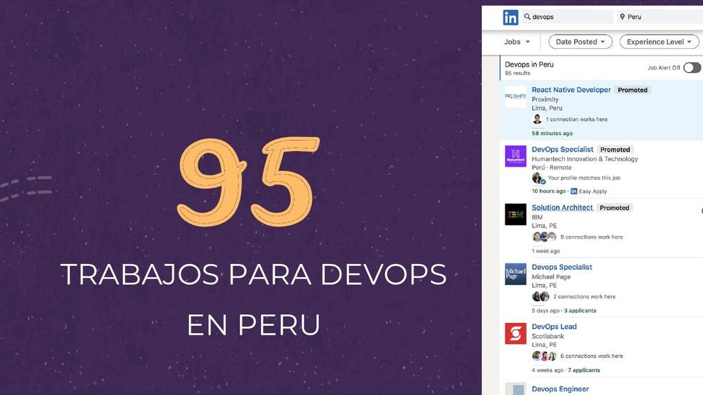 95 TRABAJOS PARA DEVOPS EN PERU