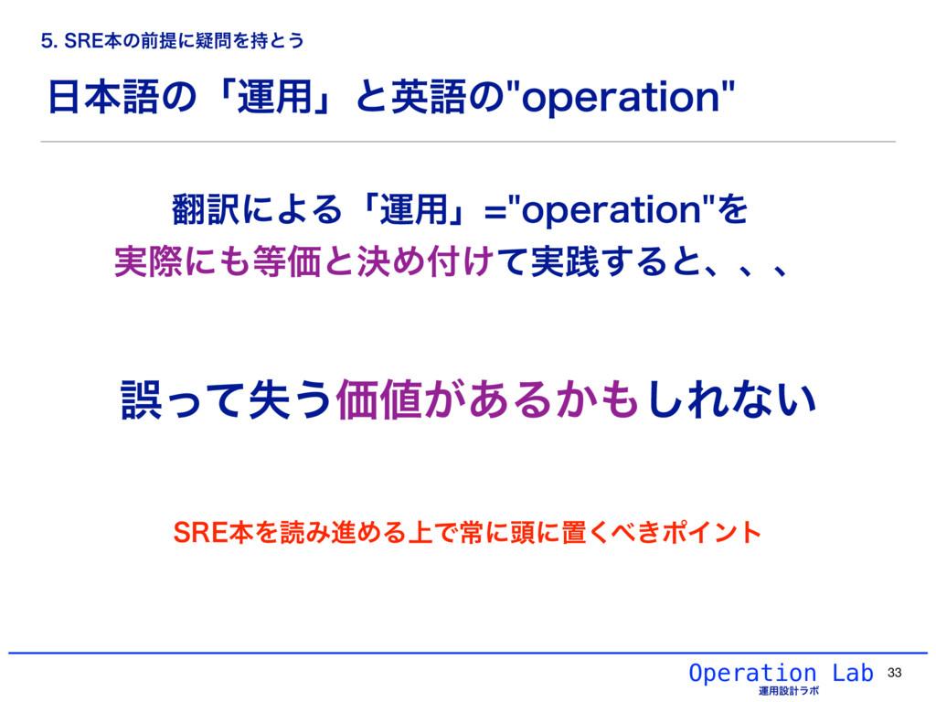 ຊޠͷʮӡ༻ʯͱӳޠͷPQFSBUJPO Operation Lab ӡ༻ઃܭϥϘ 33...