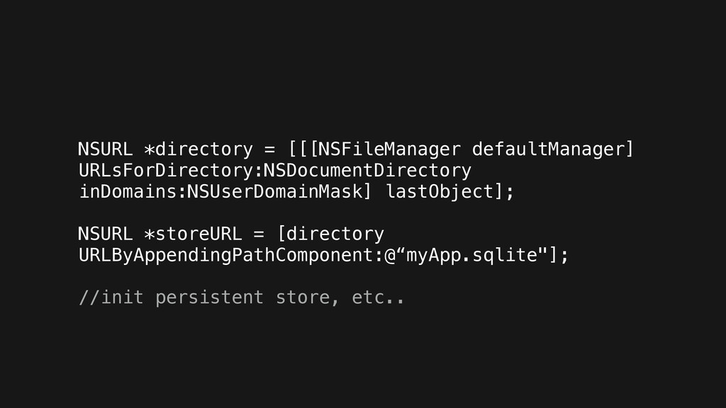 NSURL *directory = [[[NSFileManager defaultMana...