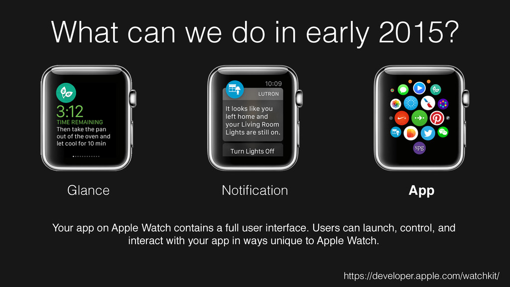 What can we do in early 2015? Glance Notificatio...