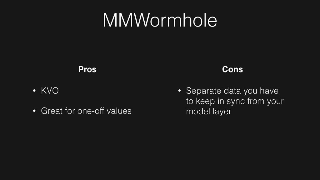 MMWormhole • KVO • Great for one-off values Pro...