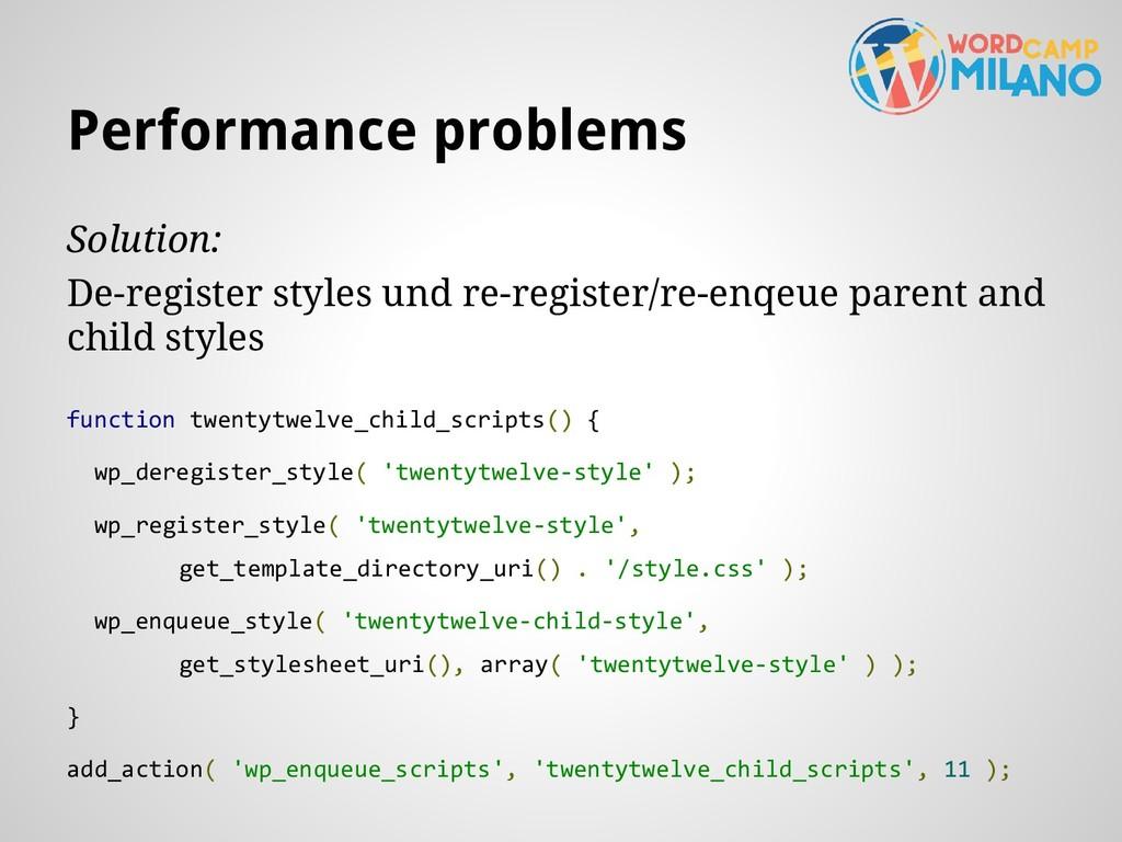 Solution: De-register styles und re-register/re...