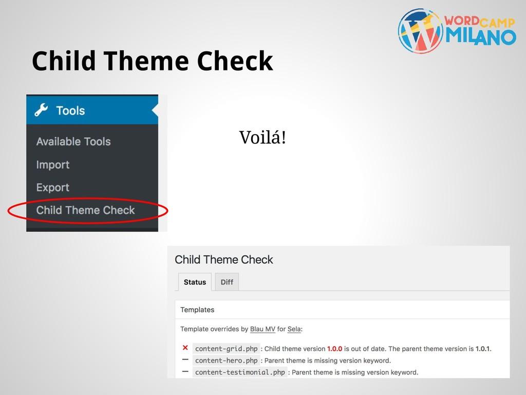 Child Theme Check Voilá!