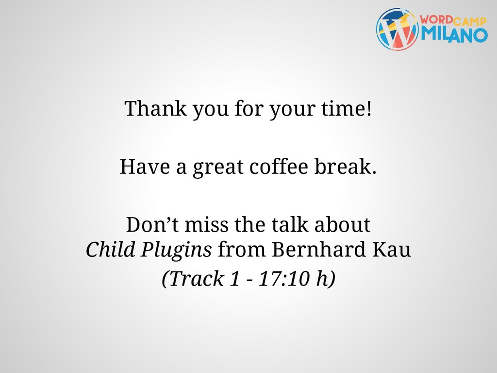 Thank you for your time! Have a great coffee br...