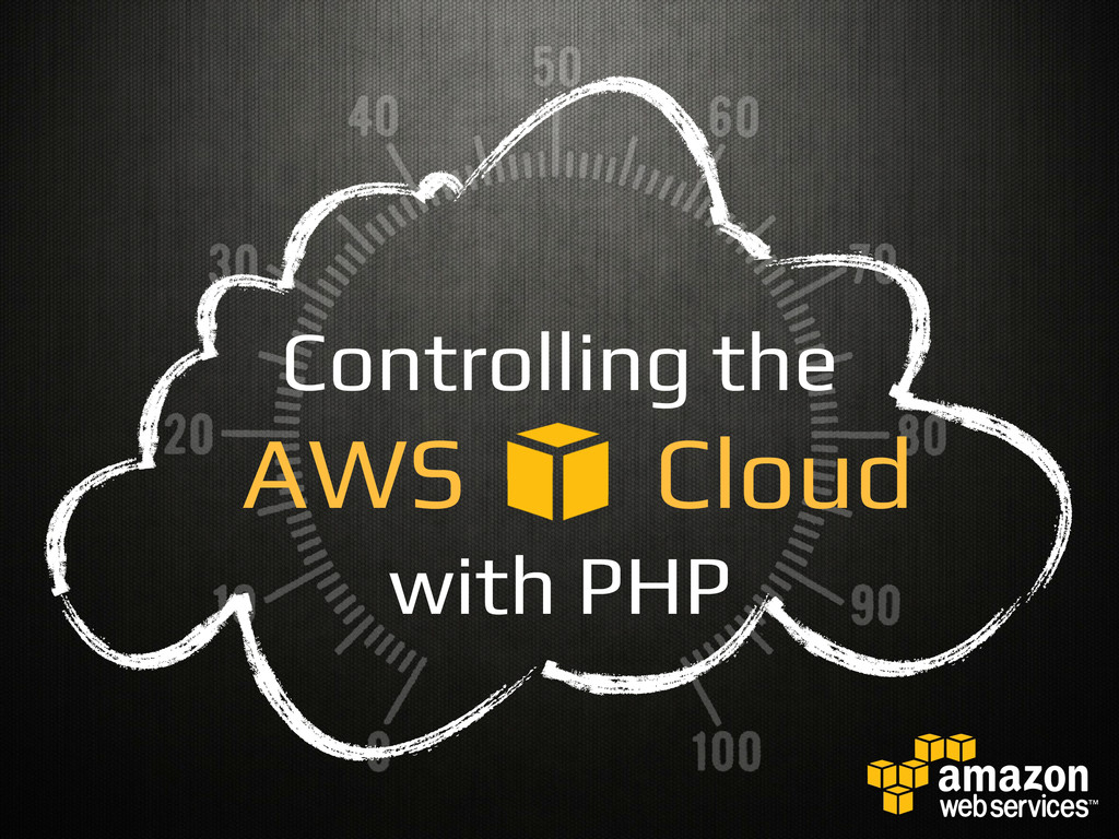 Controlling the! AWS Cloud! with PHP!