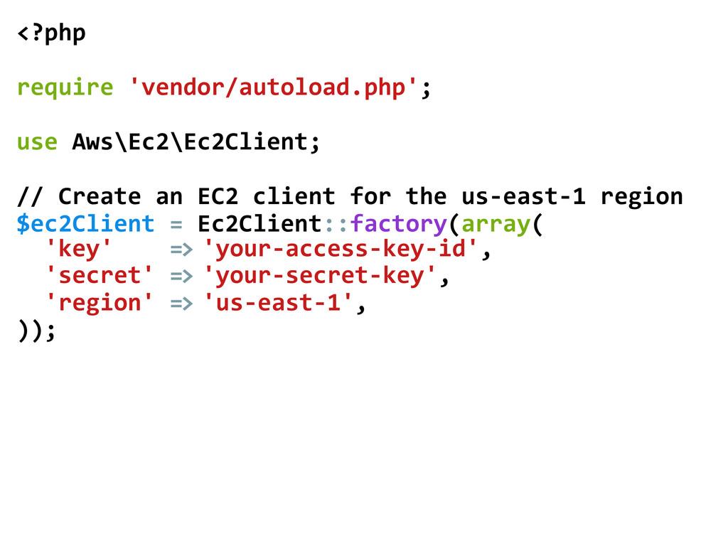 <?php    require 'vendor/autoload.php'...