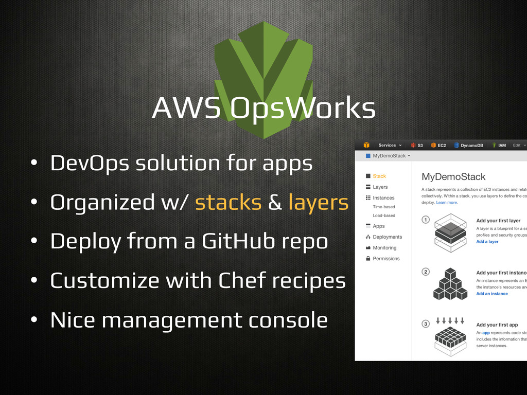 •  DevOps solution for apps! •  Organized w/ st...