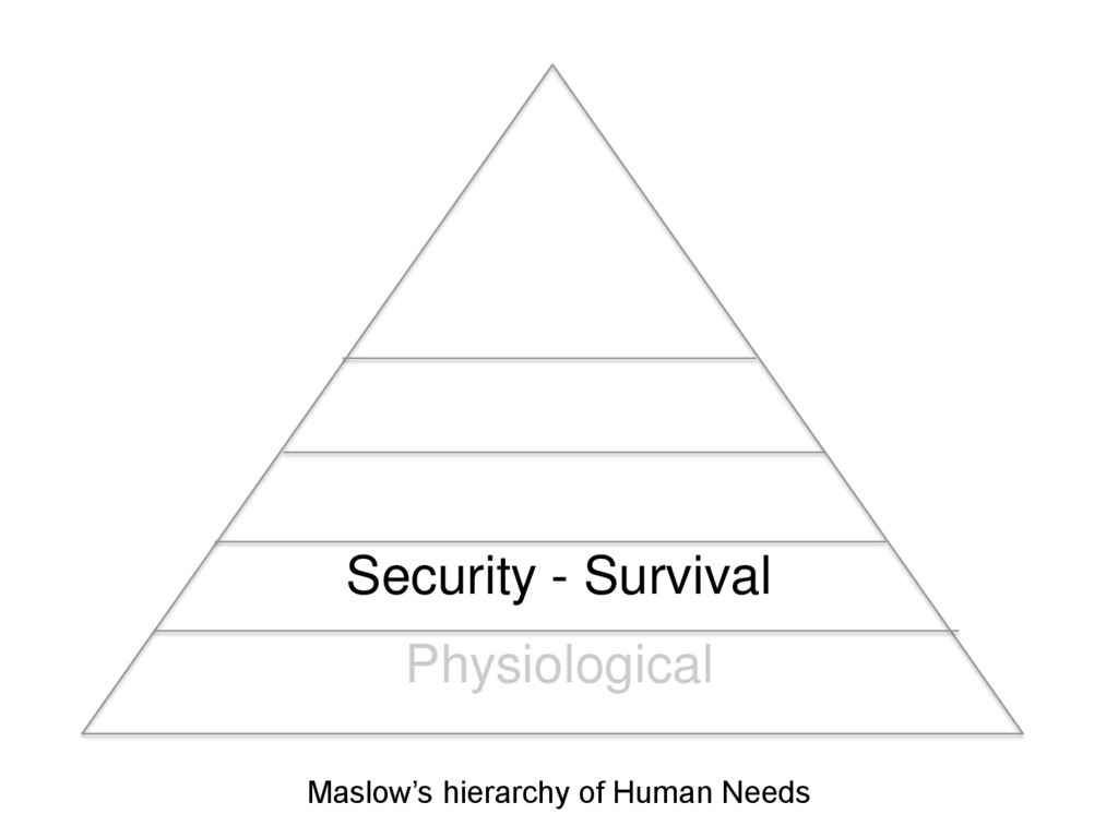 Security - Survival Physiological Maslow's hier...