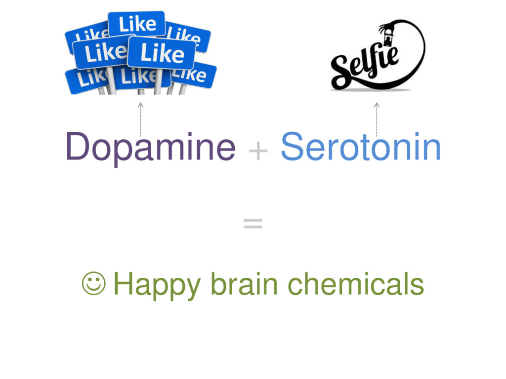 Dopamine + Serotonin =  Happy brain chemicals
