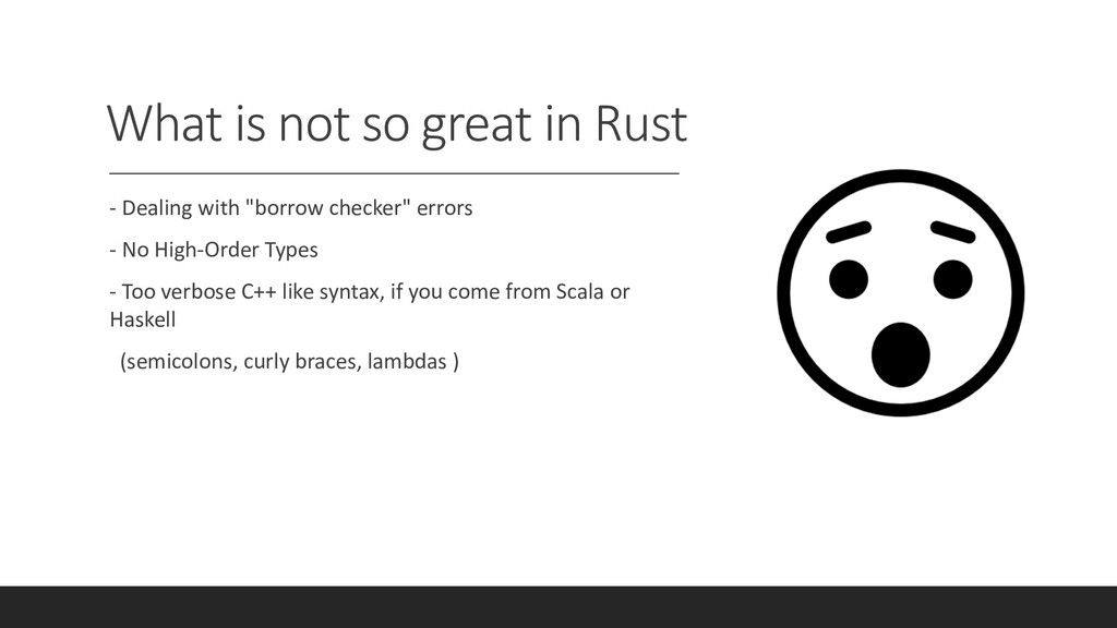 """What is not so great in Rust - Dealing with """"bo..."""
