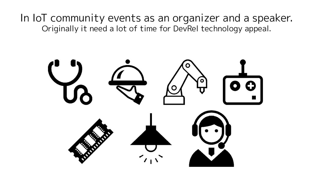 In IoT community events as an organizer and a s...