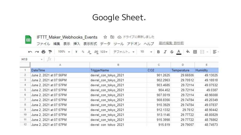 Google Sheet.