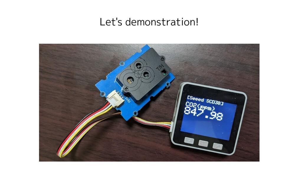 Let's demonstration!