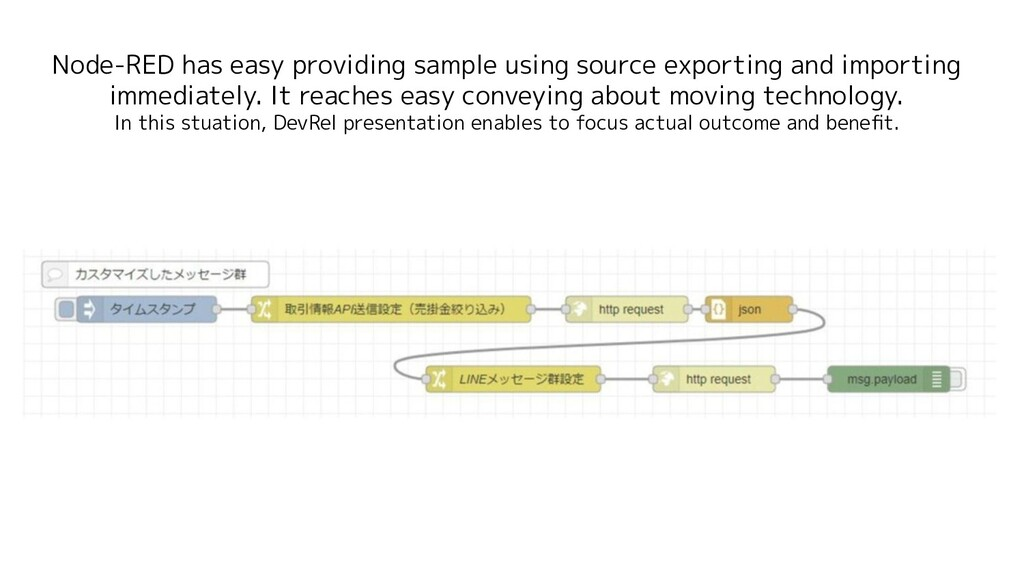 Node-RED has easy providing sample using source...