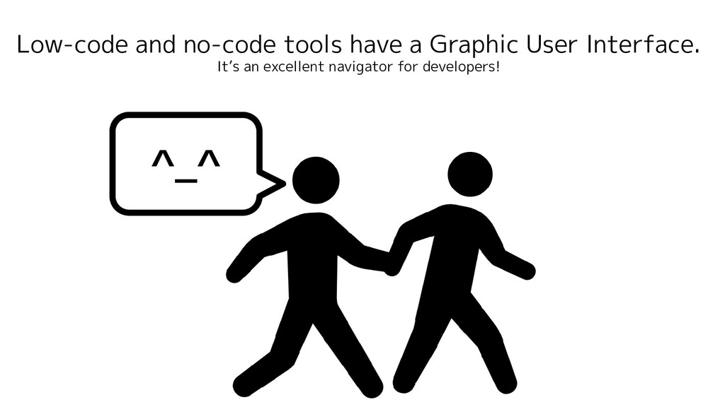 Low-code and no-code tools have a Graphic User ...