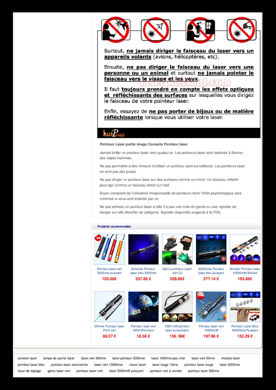Pointeur Laser petite image Conseils Pointeur l...