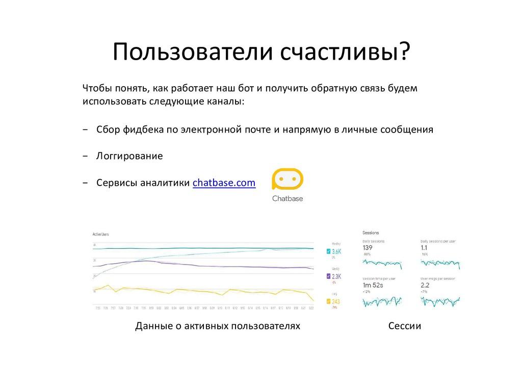 Пользователи счастливы? Чтобы понять, как работ...