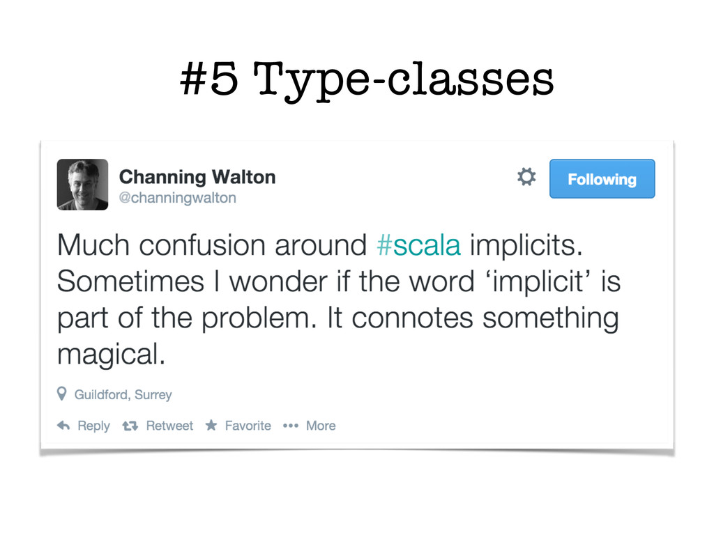 #5 Type-classes
