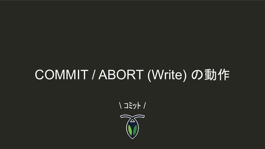 COMMIT / ABORT (Write) の動作 \ コミット /