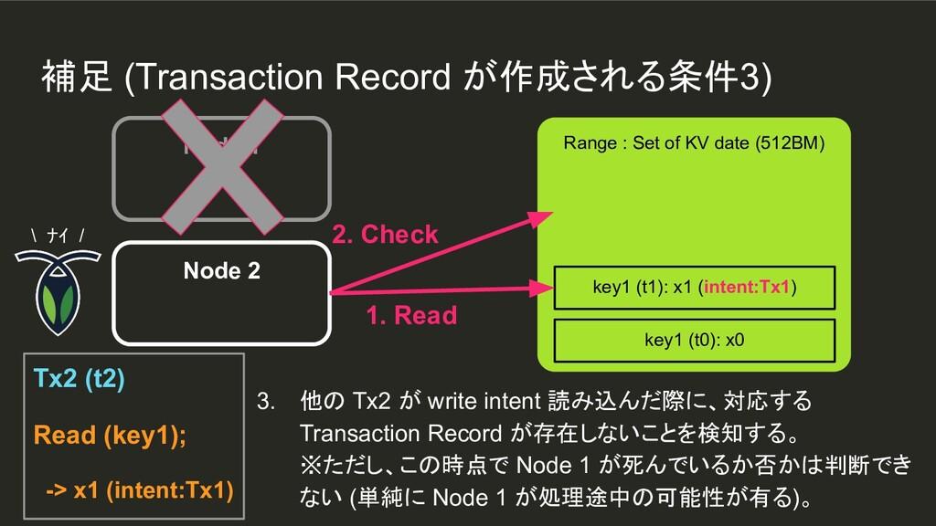Node 1 Range : Set of KV date (512BM) key1 (t1)...