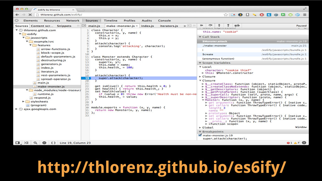 http://thlorenz.github.io/es6ify/