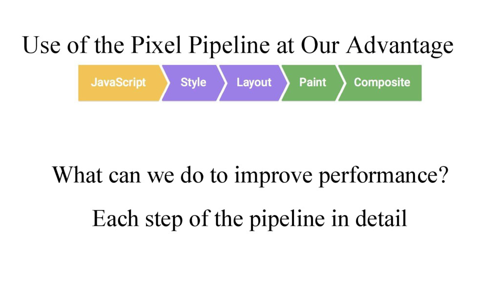 Use of the Pixel Pipeline at Our Advantage What...