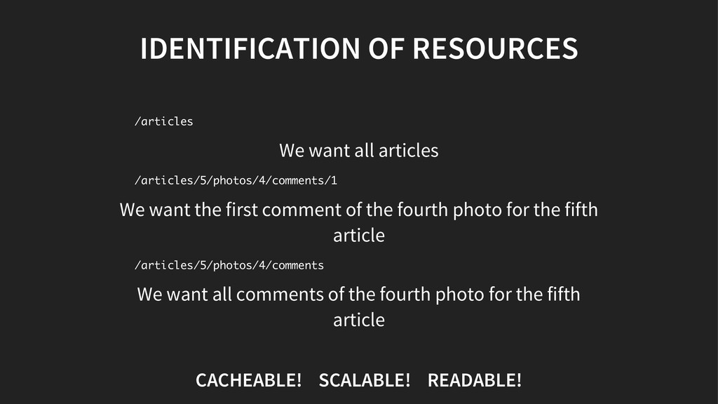 IDENTIFICATION OF RESOURCES We want all article...