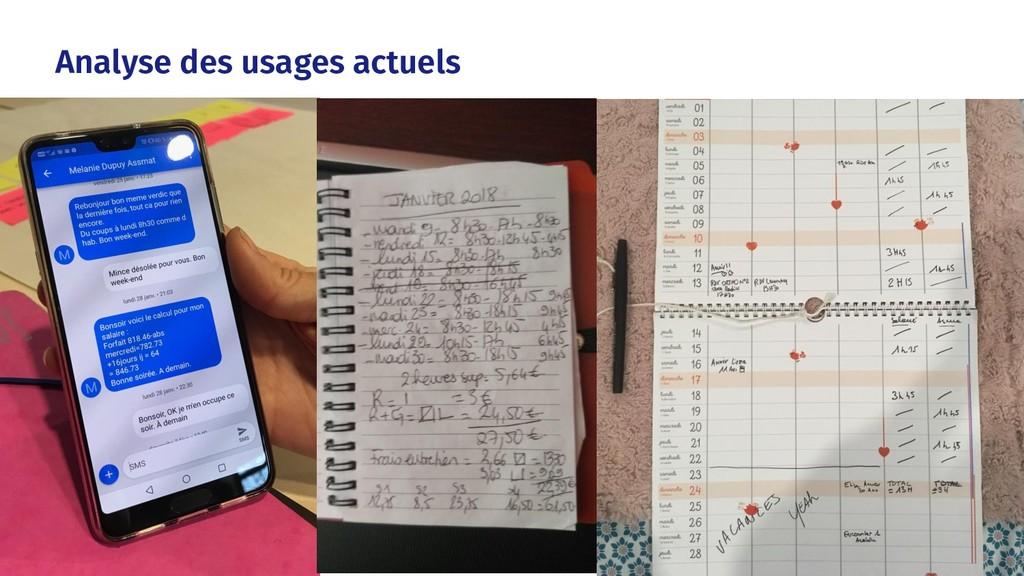Analyse des usages actuels