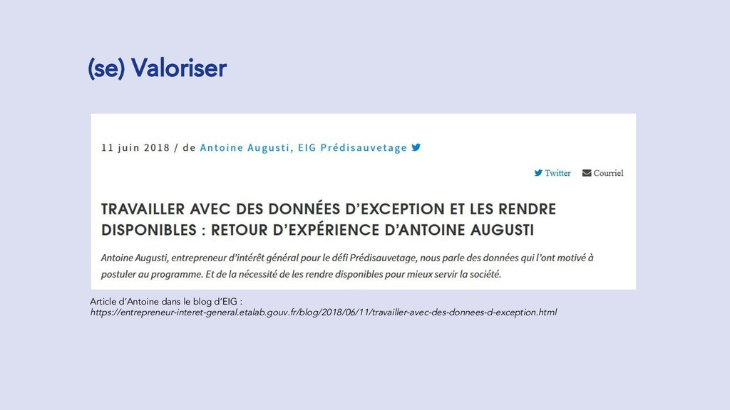 (se) Valoriser Article d'Antoine dans le blog d...
