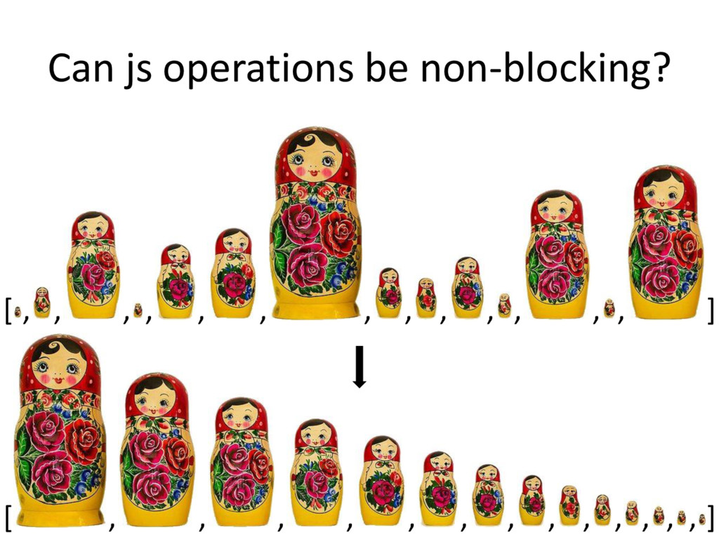 Can js operations be non-blocking? [ , , ] , , ...
