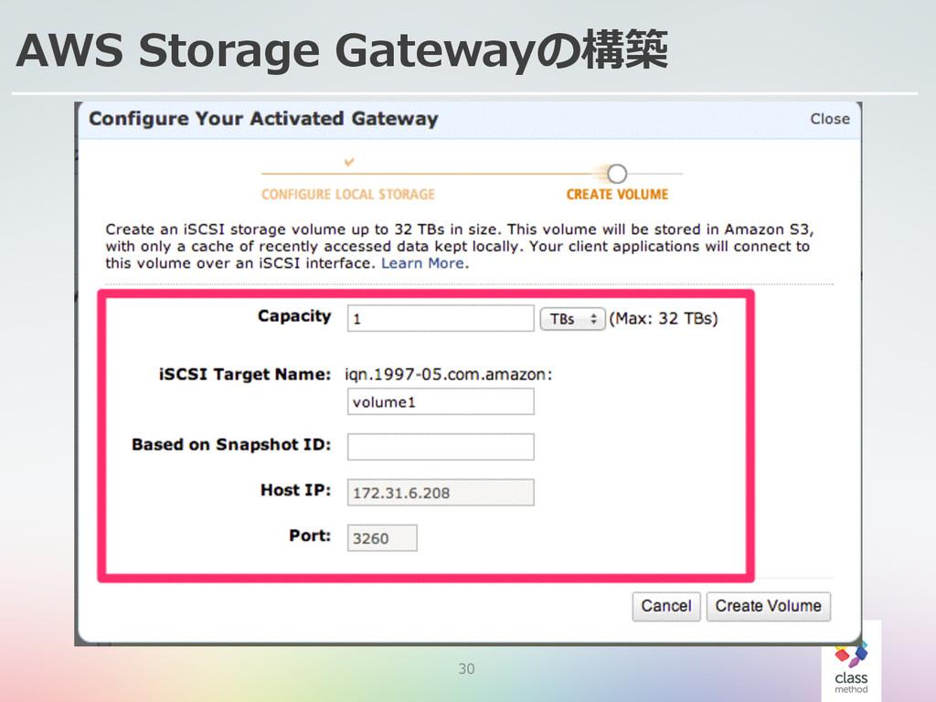 30 AWS Storage Gatewayの構築