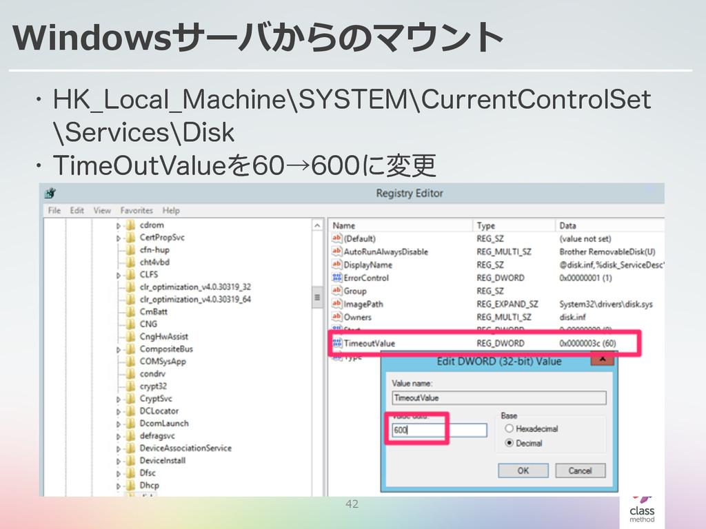 42 Windowsサーバからのマウント w ),@-PDBM@.BDIJOFa4:45&.a...