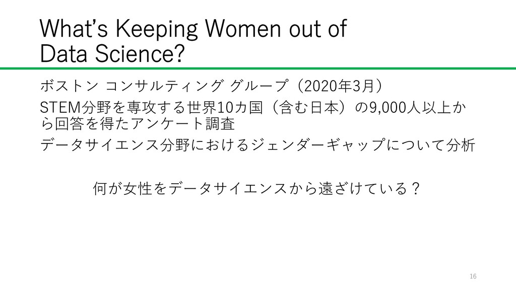 What's Keeping Women out of Data Science? ボストン ...