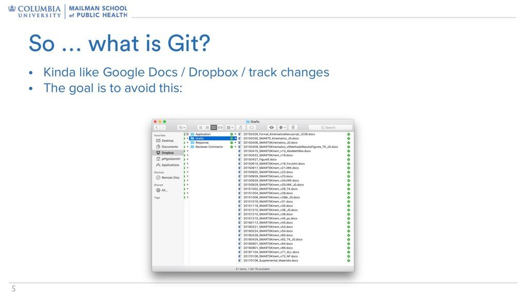 !5 • Kinda like Google Docs / Dropbox / track c...