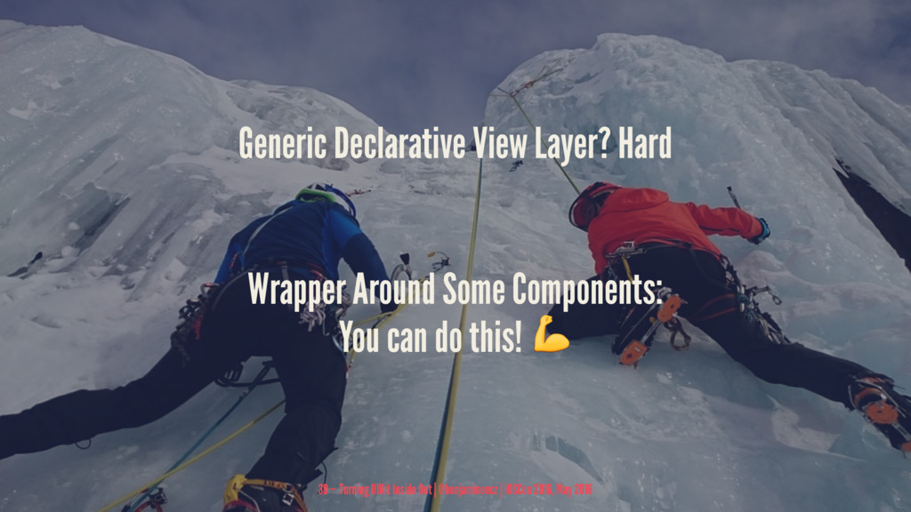 Generic Declarative View Layer? Hard Wrapper Ar...