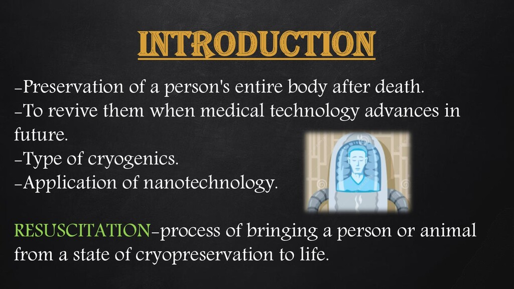 INTRODUCTION -Preservation of a person's entire...