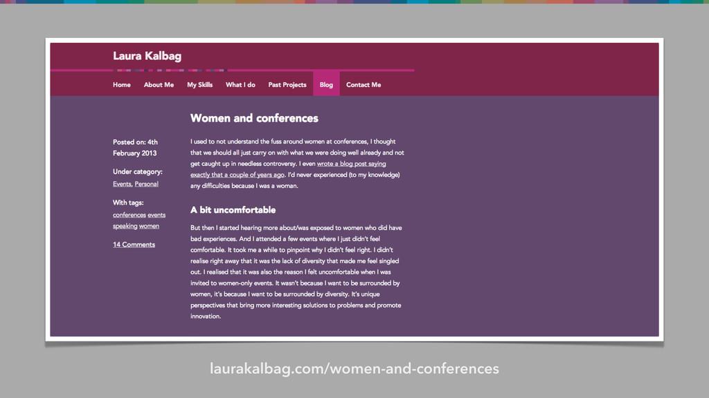 laurakalbag.com/women-and-conferences