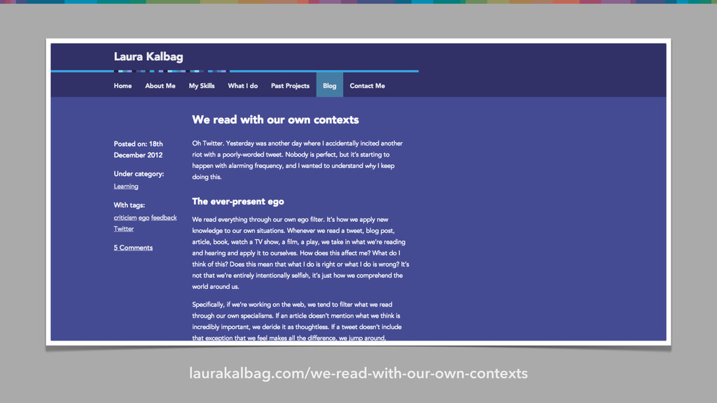 laurakalbag.com/we-read-with-our-own-contexts