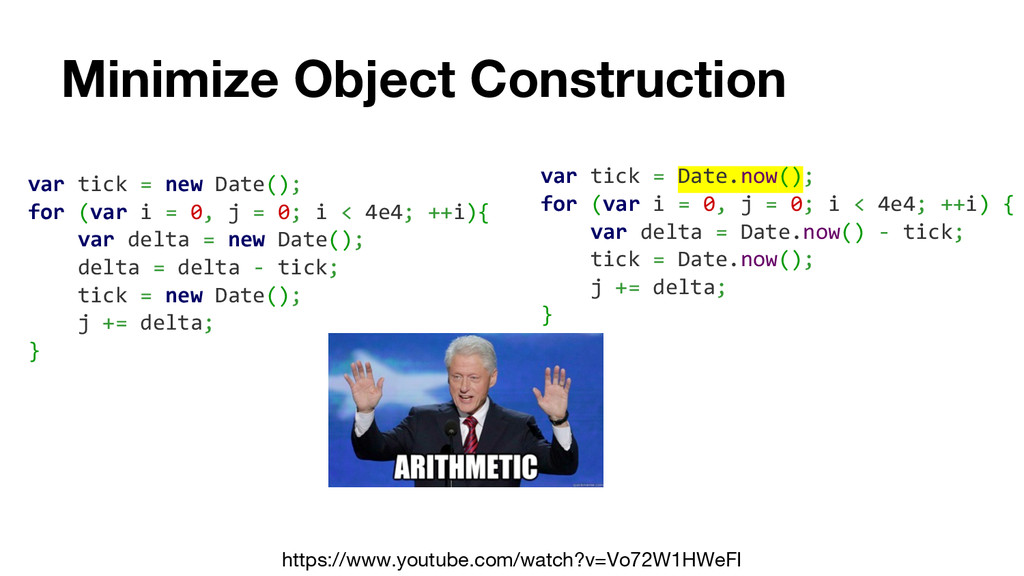Minimize Object Construction https://www.youtub...