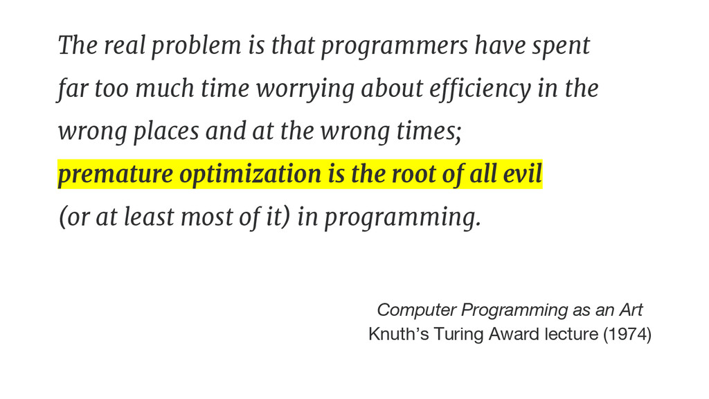 The real problem is that programmers have spent...