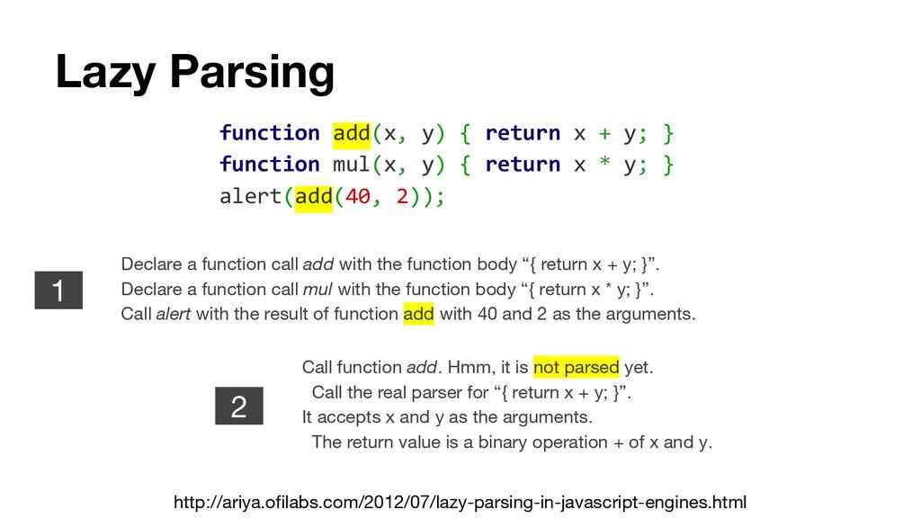 Lazy Parsing http://ariya.ofilabs.com/2012/07/l...