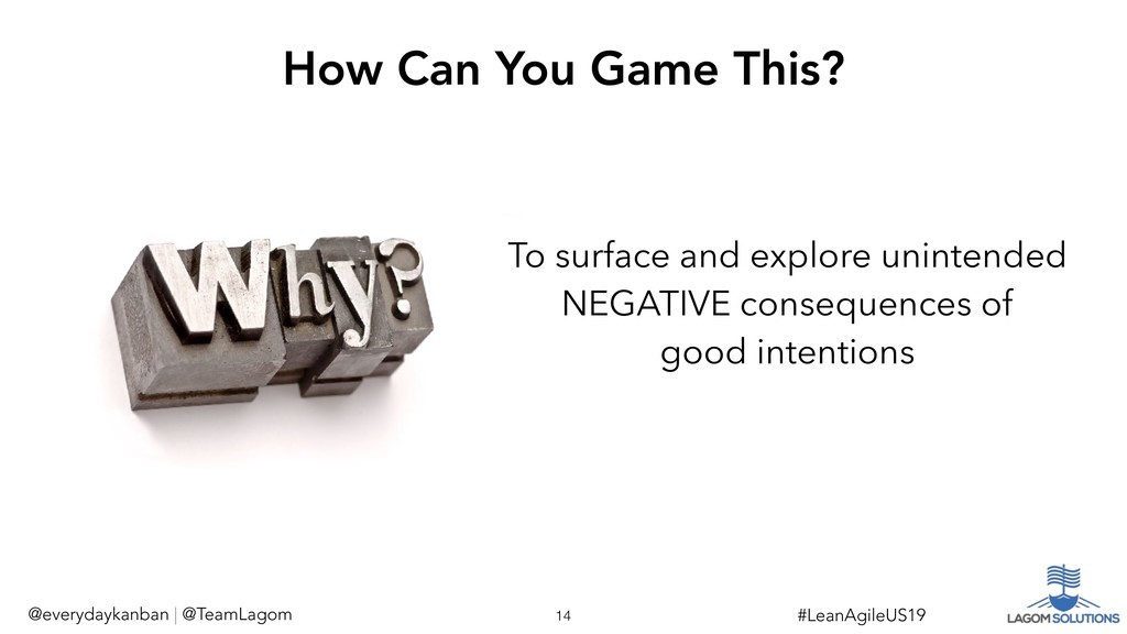 To surface and explore unintended NEGATIVE cons...