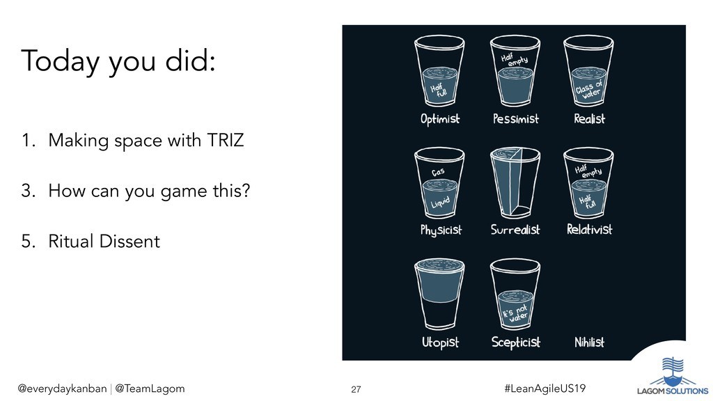 1. Making space with TRIZ 3. How can you game t...