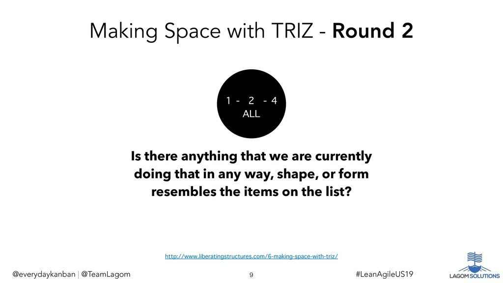 Making Space with TRIZ - Round 2 Is there anyth...