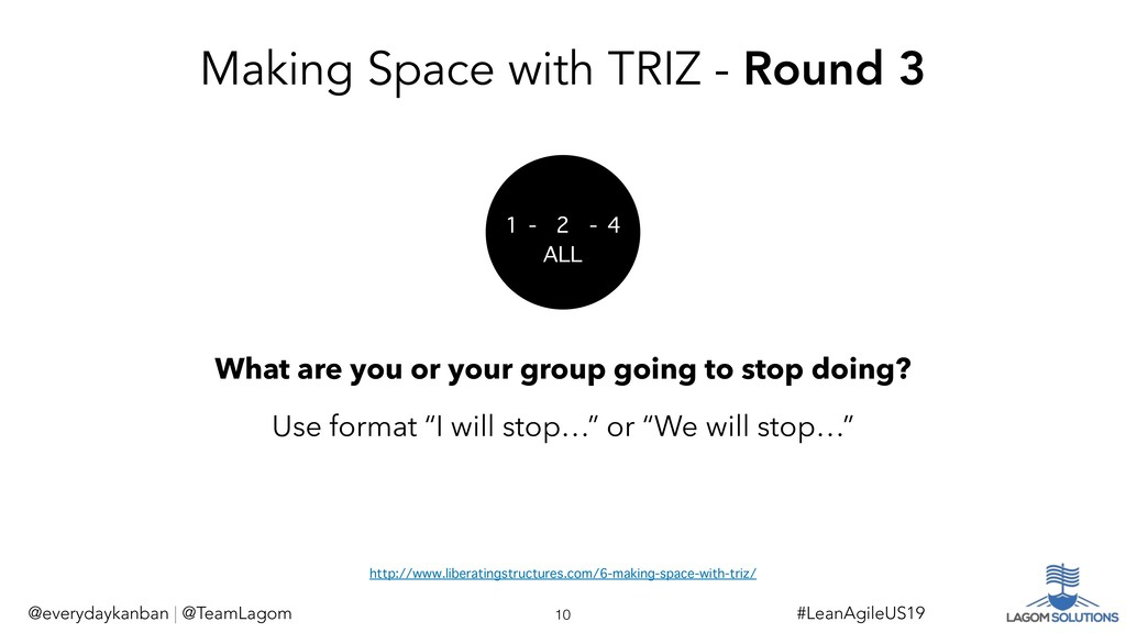 Making Space with TRIZ - Round 3 What are you o...