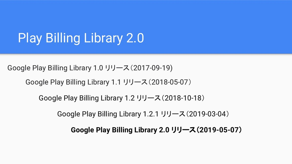 Play Billing Library 2.0 Google Play Billing Li...