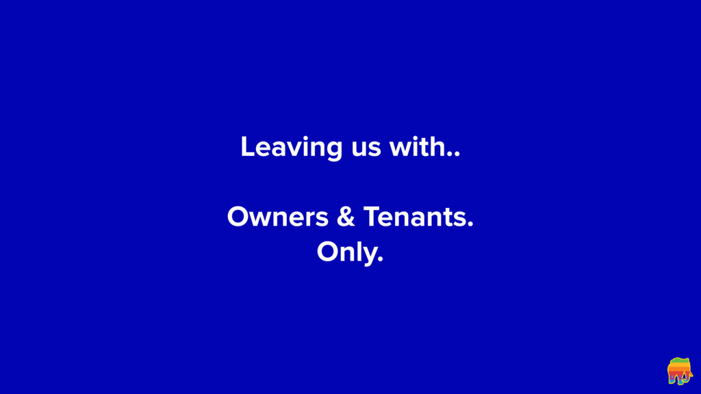 Leaving us with..
