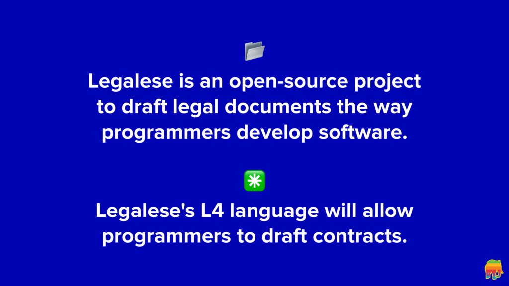 Legalese is an open-source project to draft l...