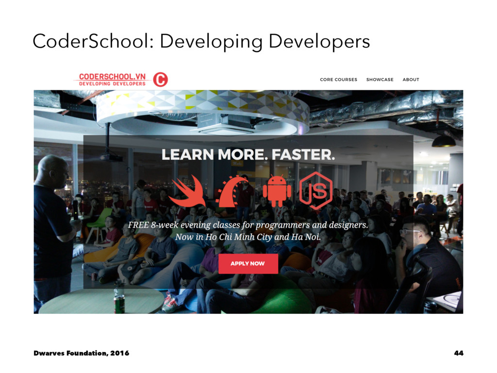 CoderSchool: Developing Developers Dwarves Foun...