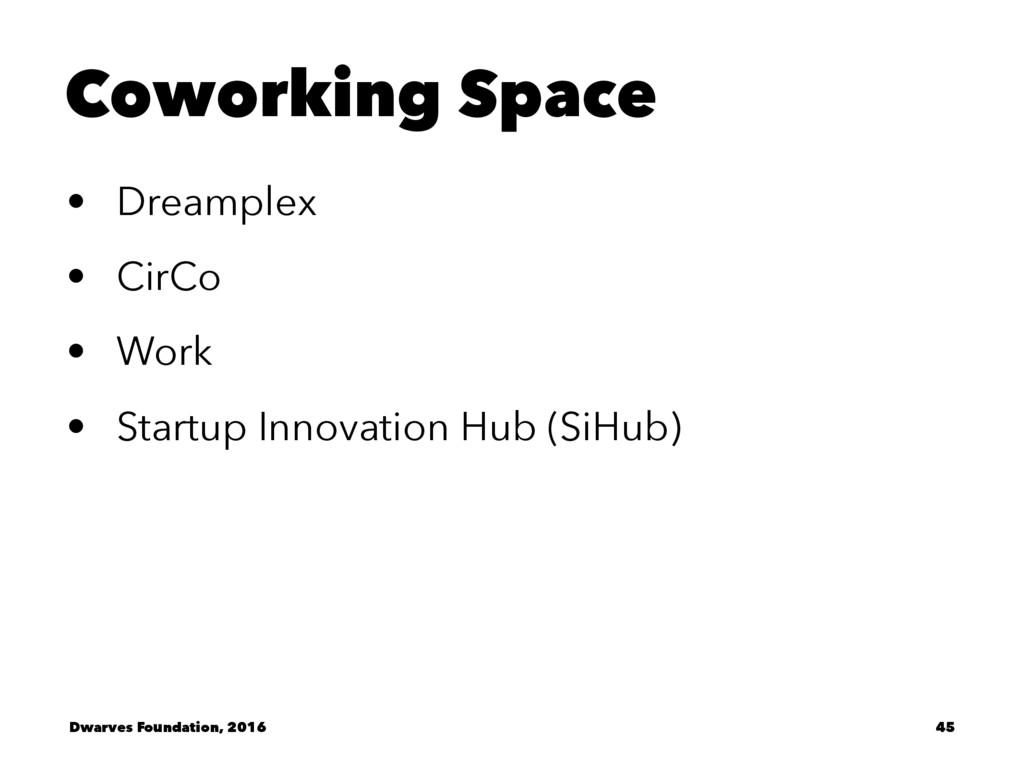 Coworking Space • Dreamplex • CirCo • Work • St...